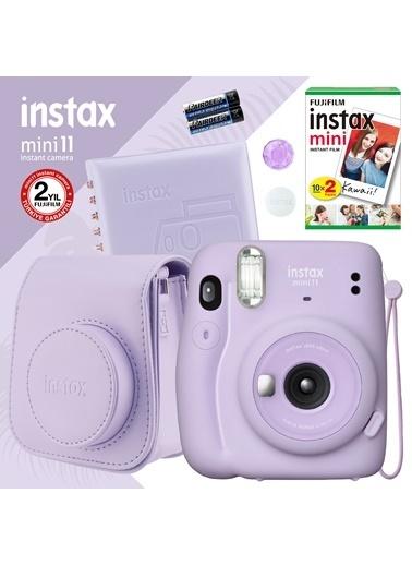 Fujifilm Instax mini 11 Lila Fotoğraf Makinesi ve Kare Albümlü Hediye Seti 11 Lila